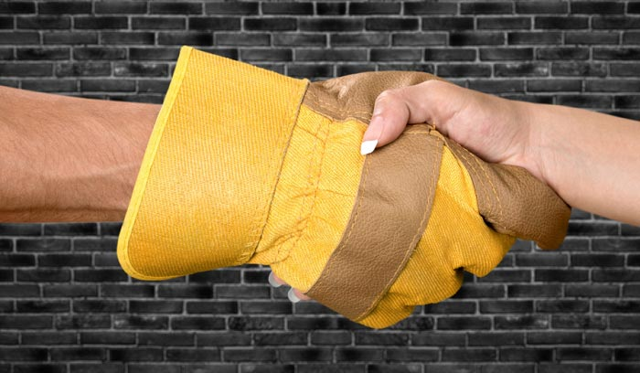 softening leather work gloves