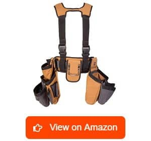 Dickies-Work-Gear-–-4-Piece-Carpenter's-Rig-–-57023-–-Tool-Belt-Suspenders-–-Cooling-Mesh-–-Padded-Suspenders-–-Steel-Buckle-–-Leather-Tool-Belt