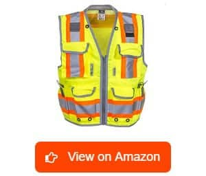 Radians-SV55-2ZGD-Class-2-Heavy-Woven-Two-Tone-Engineer-High-Visibility-Vest