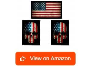 America-First-American-Flag-and-Skull-Flag-Hard-Hat-&-Helmet-Stickers
