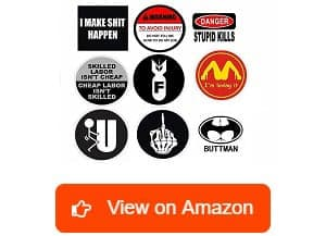 H&E Deals Funny Hard Hat Stickers