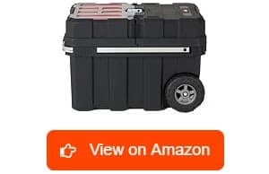 Keter 241008 Masterloader Plastic Portable Rolling Organizer Tool Box