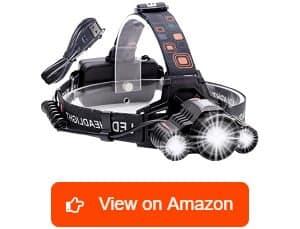 Cobiz 18650 6000 Lumen LED Work Headlight