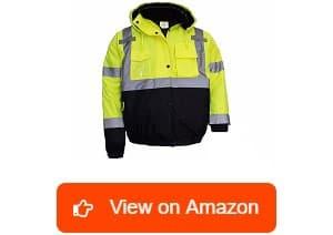New York Hi Viz Workwear ANSI Class 3 WJ9012 2XL High Visibility Bomber Safety Jacket