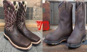 ariat vs justin work boot