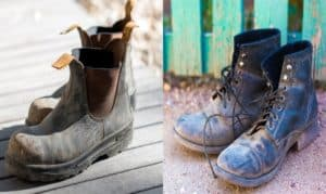 slip on vs lace up work boots